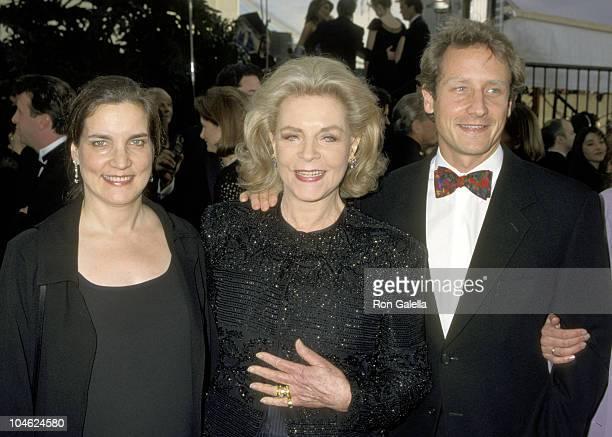 Lauren Bacall Daughter Leslie Bogart and Son Sam Robards