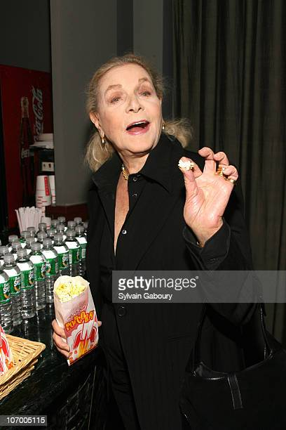 Lauren Bacall during Harvey Weinstein Hosts a Private Screening of Bobby for Senators Obama and Schumer Inside Arrivals at Disney Screeening Room in...