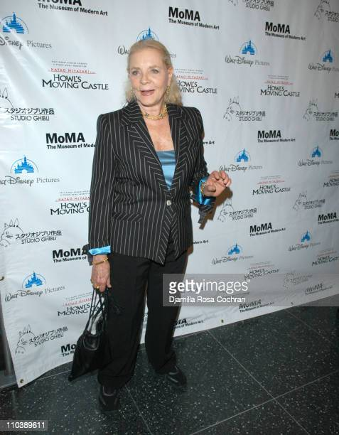 "Lauren Bacall during ""Howl's Moving Castle"" New York City Premiere at The Museum of Modern Art in New York, New York, United States."