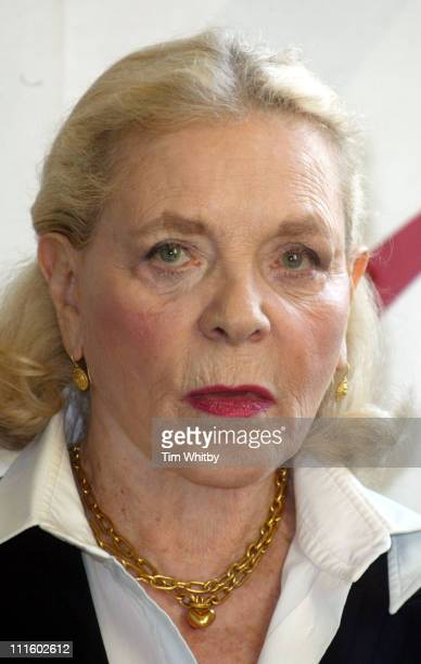 Lauren Bacall during Lauren Bacall and Author Wilbur Smith Attend a Foyles Literary Luncheon at Dorchester Hotel in London Great Britain