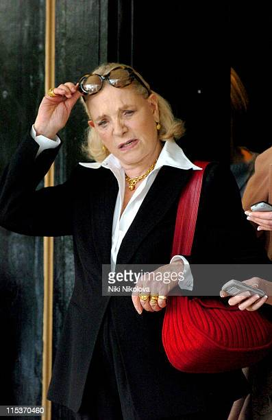 Lauren Bacall during Lauren Bacall Sighting in London April 11 2005 at Dorchester Hotel in London Great Britain
