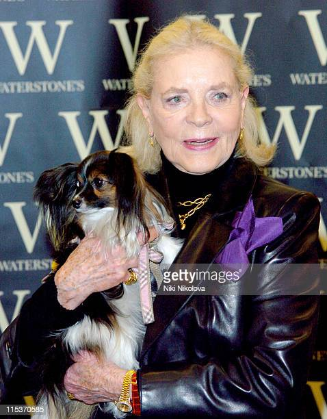 Lauren Bacall during Lauren Bacall Signs Her Book 'By Myself and Then Some' at Waterstone's in London at Waterstones Oxford street in London Great...