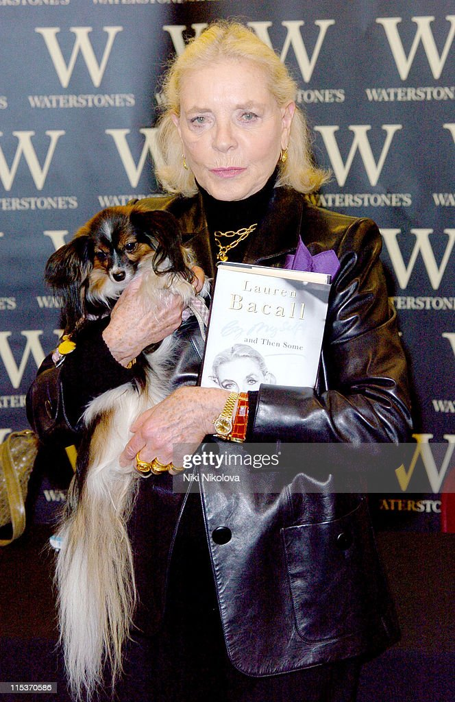 """Lauren Bacall Signs Her Book """"By Myself and Then Some"""" at Waterstone's in London"""