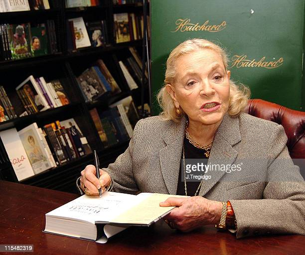 Lauren Bacall during Lauren Bacall Signs Her Book 'By Myself and Then Some' at Hatchards in London at Hatchards 187 Piccadilly in London Great Britain