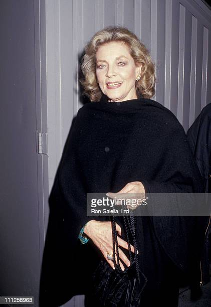 Lauren Bacall during The American Academy of Dramatic Arts Tribute to Kirk Douglas at Waldorf Astoria Hotel in New York City New York United States