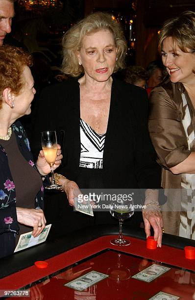 Lauren Bacall gambles at the opening night party for Liza Minnelli at Tavern On The Green
