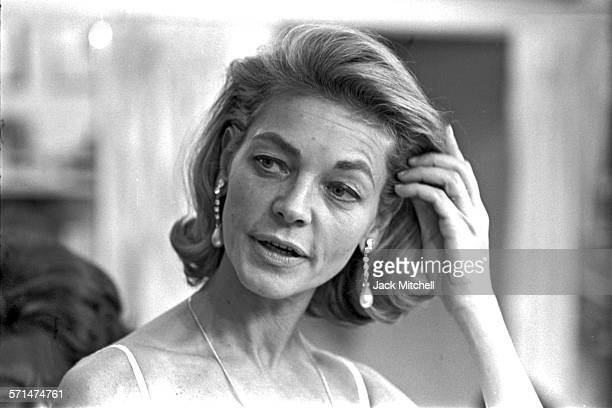 Lauren Bacall photographed at a dress fitting in Manhattan in October 1965