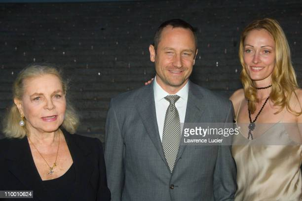 Lauren Bacall Sam Robards Sidsel Jensen during Vanity Fair Hosts The Sixth Annual Tribeca Film Festival Opening Night Party April 24 2007 at New York...