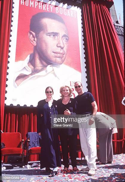 Lauren Bacall Stephen Bogart Leslie Bogart during Humphrey Bogart Postage Stamp Premieres at Mann Chinese Theatre in Hollywood California United...
