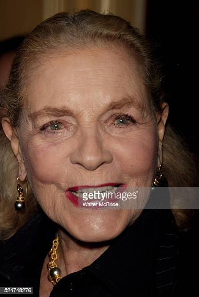 Lauren BacallAttending a New York celebration in anticipation of director Sidney Lumet's Honorary Academy Award which will be presented at the...