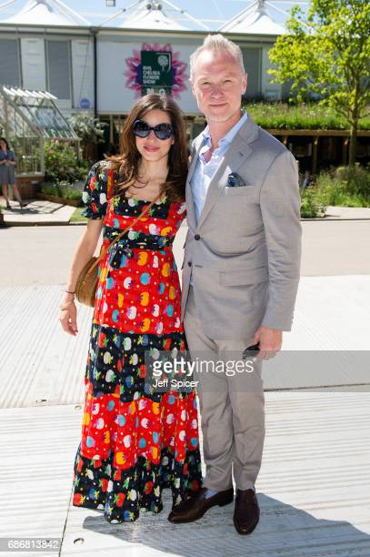 Lauren Barber and Gary Kemp attend RHS Chelsea Flower Show press day at Royal Hospital Chelsea on May 22 2017 in London England