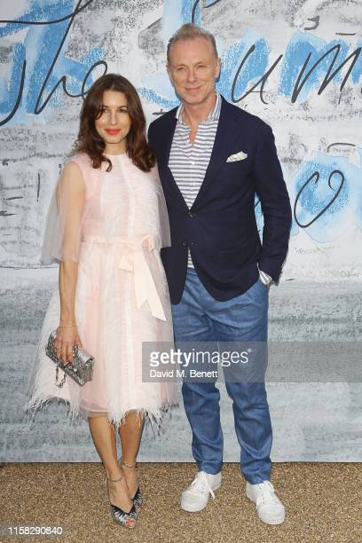 Lauren Barber and Gary Kemp attend The Summer Party 2019 presented by Serpentine Galleries Chanel and hosted by Michael R Bloomberg Hans Ulrich...