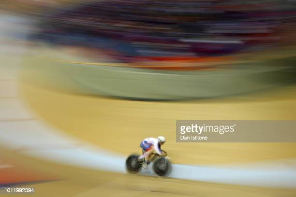 Lauren BateLowe of Ireland competes in the Women's 500m Time Trail Qualifying during the track cycling on Day five of the European Championships...