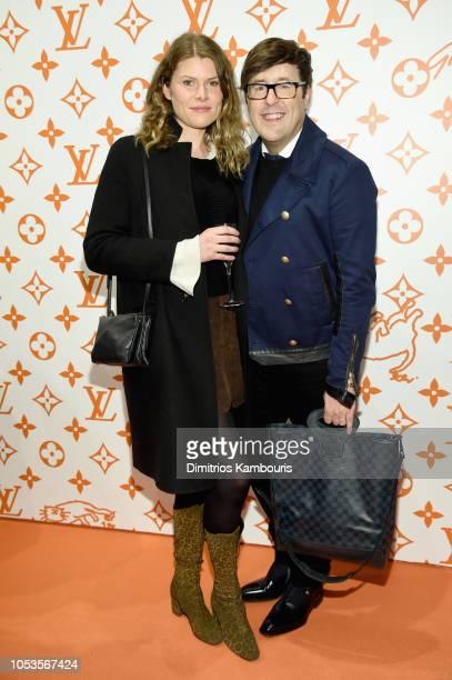 Lauren Bellamy and Andrew Bevan attend the Louis Vuitton X Grace Coddington Event on October 25 2018 in New York City