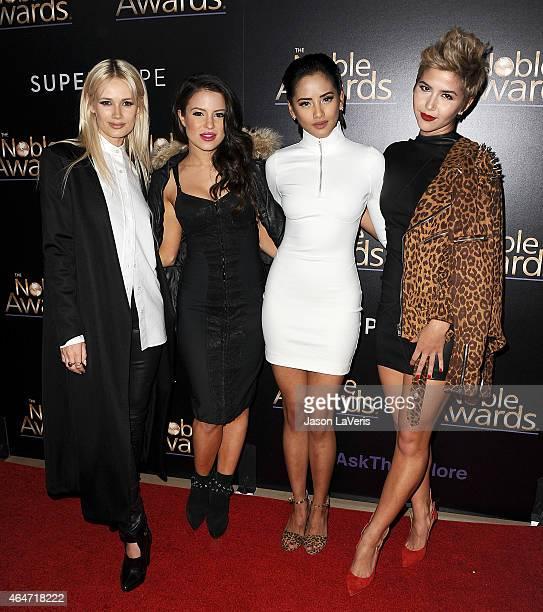 Lauren Bennett, Emmalyn Estrada, Natasha Slayton and Paula Van Oppen of the group G.R.L. Attends the 3rd annual Noble Awards at The Beverly Hilton...