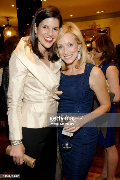 Lauren Blair and Susie Anderson attend de Grisogono hosts The Central Park Conservancy's Platinum Jewels in Bloom Cocktail Reception at de Grisogono...