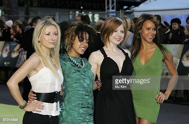 Lauren Blake Bryony Afferson Helena Dowling and Hayley Angel Wardle from TV show Totally Frank arrive at the World Premiere of 'Alien Autopsy' at...