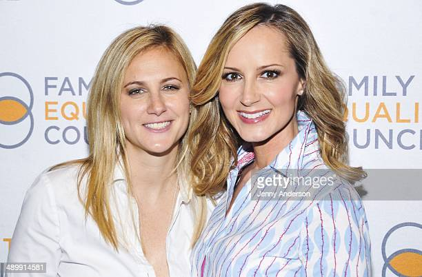 Lauren BlitzerWright and singer Chely Wright attends the Family Equality Council 9th Annual Night At The Pier at Pier 60 on May 12 2014 in New York...