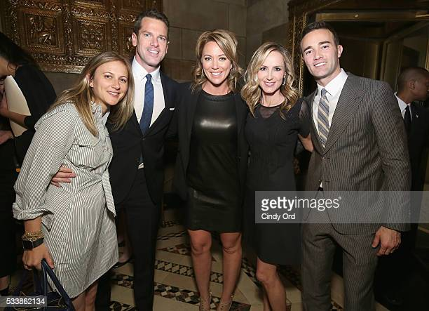 Lauren Blitzer-Wright, Thomas Roberts, Brooke Baldwin, Chely Blizer-Wright and Patrick Abner attend the GLSEN Respect Awards at Cipriani 42nd Street...