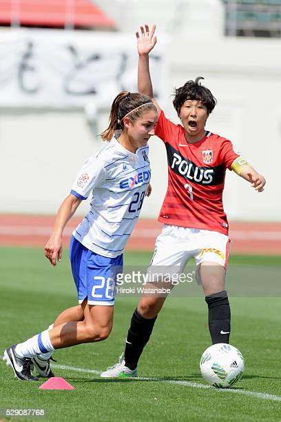 Lauren Bohaboy of Iga FC Kunoichi in action during the Nadeshiko League match between Urawa Red Diamonds Ladies and Iga FC Kunoichi at the Urawa...