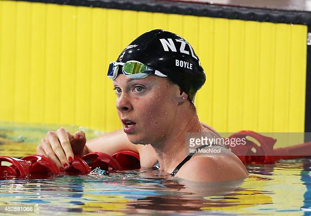 GLASGOW SCOTLAND JULY 29 Lauren Boyle of New Zealand competes in the Women's 400m Freestyle at Tollcross International Swimming Centre during day six...