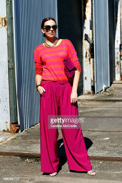 Lauren Brain is seen at Mercedes-Benz Fashion Week Australia Spring/Summer 2013/14 at Carriageworks on April 11, 2013 in Sydney, Australia.