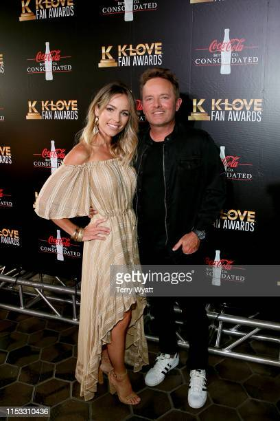 Lauren Bricken and Chris Tomlin attend the 7th Annual KLOVE Fan Awards at The Grand Ole Opry House on June 2 2019 in Nashville Tennessee
