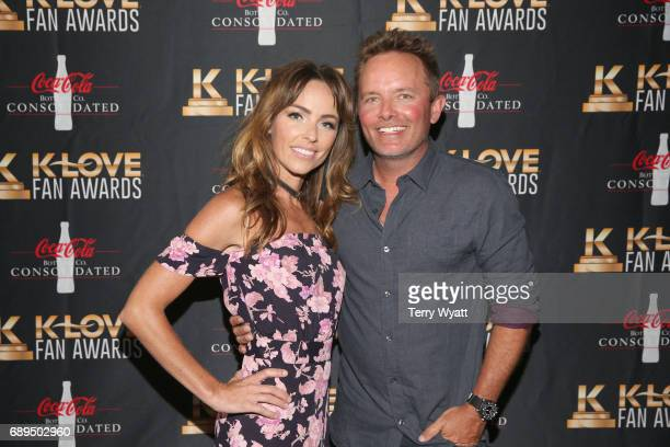 Lauren Bricken and musical artist Chris Tomlin arrive at the 5th Annual KLOVE Fan Awards at The Grand Ole Opry on May 28 2017 in Nashville Tennessee