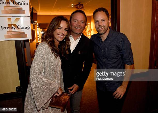 Lauren Bricken Chris Tomlin and David Carr attend the 3rd Annual KLOVE Fan Awards at the Grand Ole Opry House on May 31 2015 in Nashville Tennessee