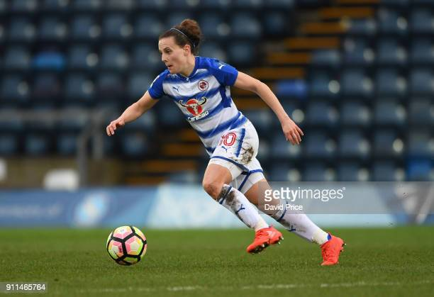 Lauren Bruton of Reading during the match between Reading FC Women and Arsenal Women at Adams Park on January 28 2018 in High Wycombe England