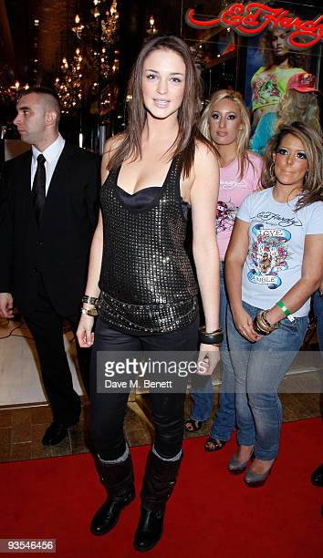 Lauren Budd and other celebrities attend the launch of the Ed Hardy store at Westfield Shopping Center London on December 01 2009 London England