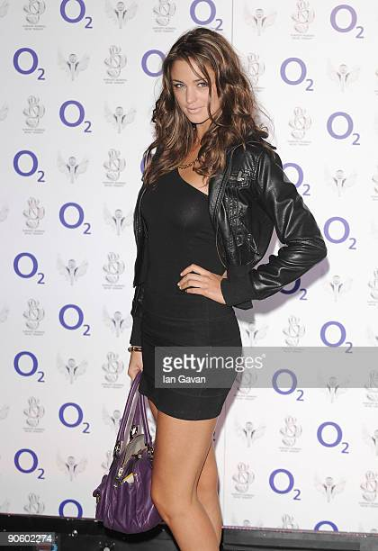 Lauren Budd arrives for the O2 Rockwell concert in aid of NordoffRobbins Music Therapy at the 02 Arena on September 11 2009 in London England