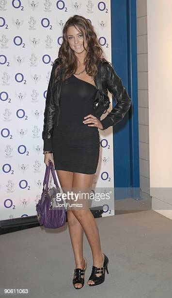 Lauren Budd arrives for the O2 Rockwell concert in aid of NordoffRobbins Music Therapy at 02 Arena on September 11 2009 in London England