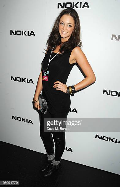 Lauren Budd attends the launch party for the NOKIA X6 where Rihanna will showcase new material from her new album 'Rated R' at the Brixton Academy on...