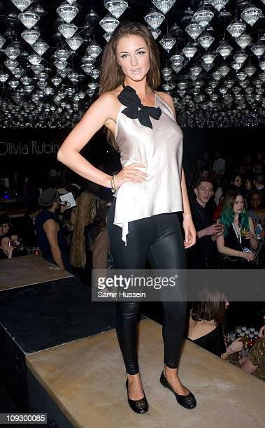 Lauren Budd attends the Olivia Rubin London Fashion Week Autumn/Winter 2011 show at Jalouse on February 19 2011 in London England