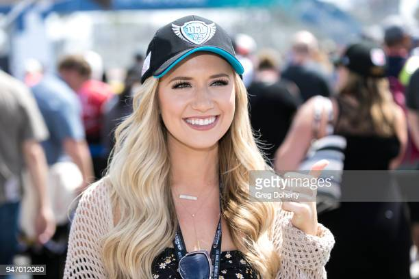 Lauren Burnham attends the start of the 2018 Toyota Grand Prix of Long Beach on April 15 2018 in Long Beach California