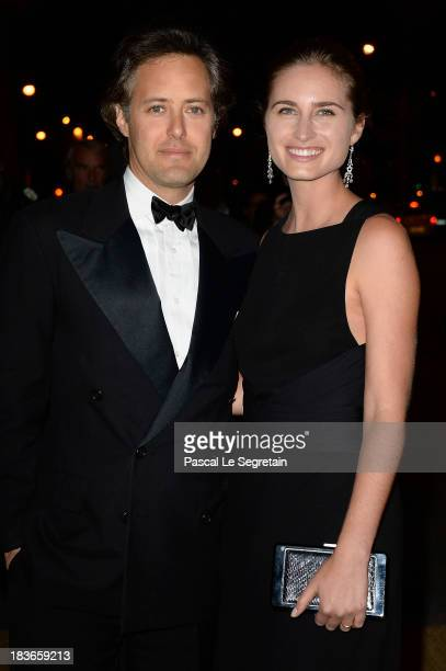 Lauren Bush and David Lauren arrive at a Ralph Lauren Collection Show and private dinner at Les BeauxArts de Paris on October 8 2013 in Paris France...