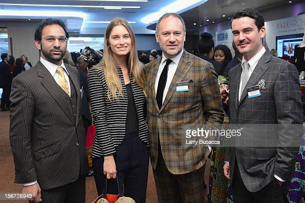 Lauren Bush David Leppan Christian Barker and guest attend the second day of the 2012 International Herald Tribune's Luxury Business Conference held...
