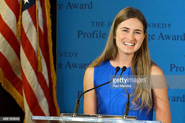 Lauren Bush Lauren accepts the 2014 John F Kennedy Profile In Courage Award on behalf of her Grandfather former president George H W Bush who was...