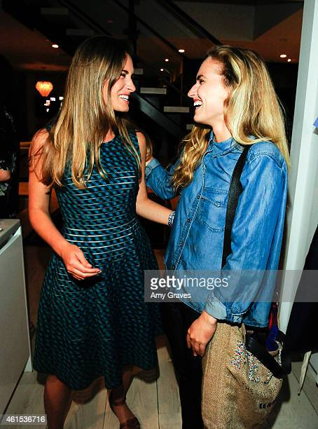 Lauren Bush Lauren and Ashley Bush attend the Dinner Party Hosted by Ali Larter and Lauren Bush Lauren to Benefit FEED October 1 2014 in Los Angeles...