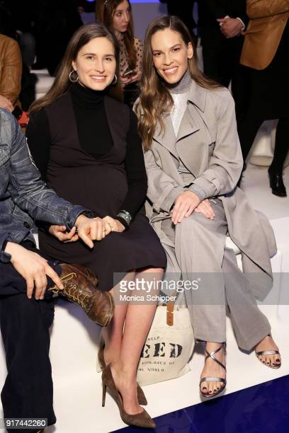Lauren Bush Lauren and Hilary Swank attends the Ralph Lauren fashion show during New York Fashion Week The Shows on February 12 2018 in New York City