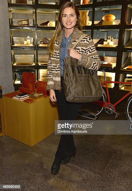 Lauren Bush Lauren attends Harper's Bazaar's Laura Brown iCrossing Shinola Zady Celebrate An Evening Of Collaboration on January 30 2014 in New York...