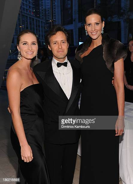 Lauren Bush Lauren David Lauren and Stephanie Winston Wolkoff attend an evening with Ralph Lauren hosted by Oprah Winfrey and presented at Lincoln...