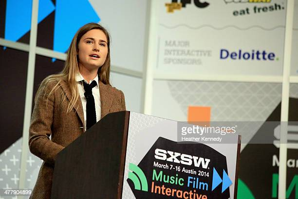 Lauren Bush Lauren Founder and CEO of FEED speaks onstage at 'FEEDing the Future The Power of Social Business' during the 2014 SXSW Music Film...