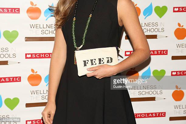 Lauren Bush Lauren hand bag detail attends the Wellness In The Schools 10th Anniversary Gala at Riverpark on May 5 2015 in New York City