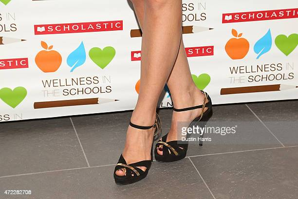 Lauren Bush Lauren, shoe detail attends the Wellness In The Schools 10th Anniversary Gala at Riverpark on May 5, 2015 in New York City.
