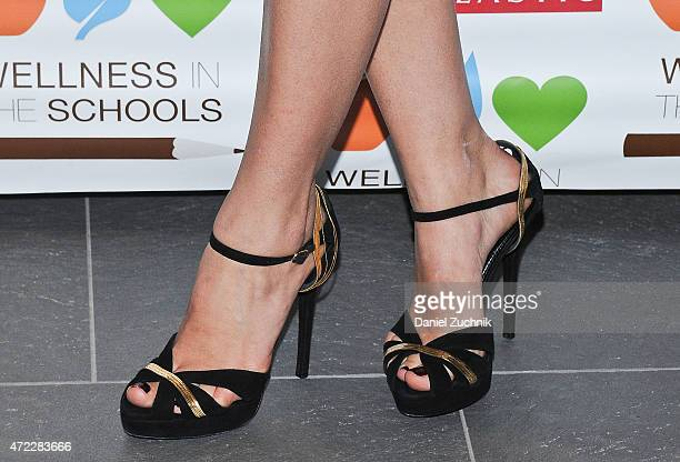 Lauren Bush Lauren shoe detail attends the Wellness In The Schools 10th Anniversary Gala at Riverpark on May 5 2015 in New York City