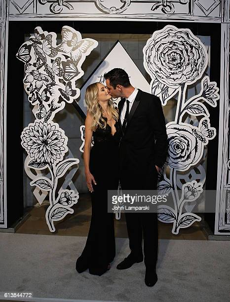 Lauren Bushnell and Ben Higgins attend The Knot Gala 2016 at New York Public Library on October 10 2016 in New York City