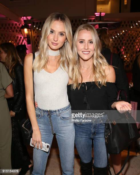 Lauren Bushnell and Whitney Janelle Young attend Victoria's Secret Ultimate Girls Night In with Angels Josephine Skriver and Romee Strijd at...