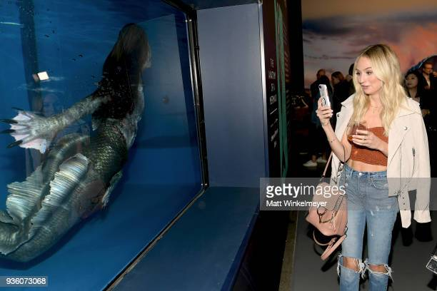 Lauren Bushnell attends the POPSUGAR x Freeform Mermaid Museum VIP Night at Goya Studios on March 21 2018 in Los Angeles California